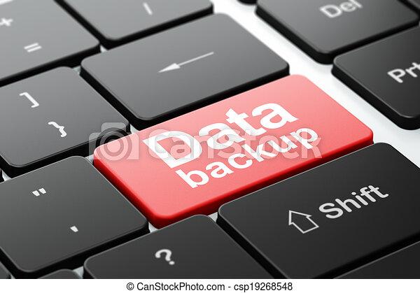 Data concept: Data Backup on computer keyboard background - csp19268548