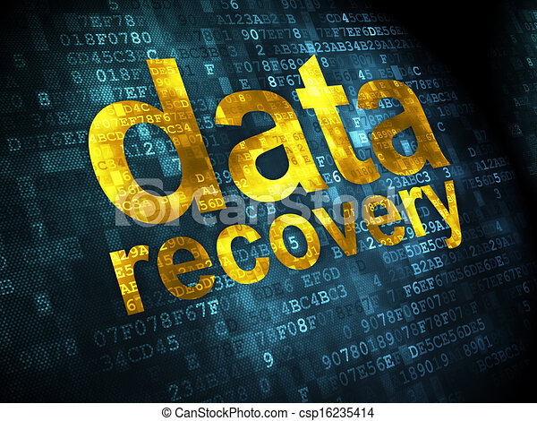 Data concept: Data Recovery on digital background - csp16235414