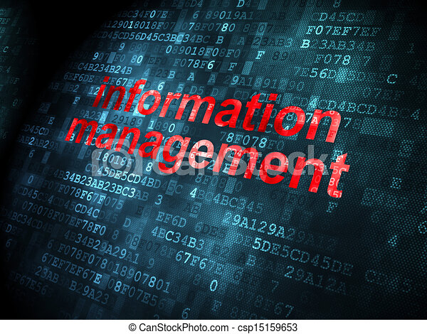 Data concept: Information Management on digital background - csp15159653