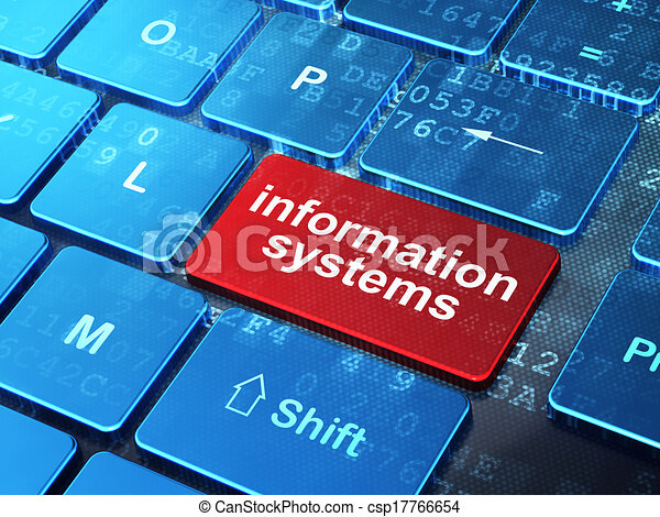 Data concept: Information Systems on computer keyboard background - csp17766654