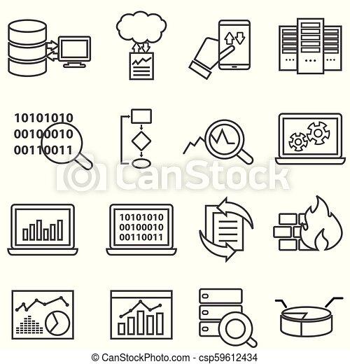 data, iconen, groot, analyse, machine, leren, lijn, data - csp59612434