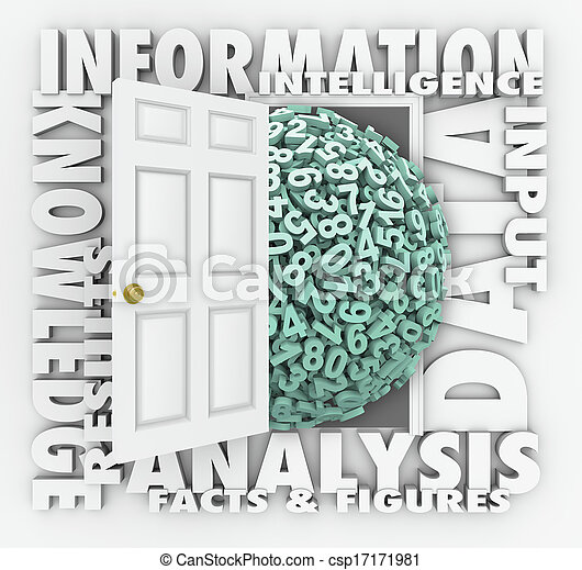 Data Information Retrieval Research Numbers Figures Door - csp17171981