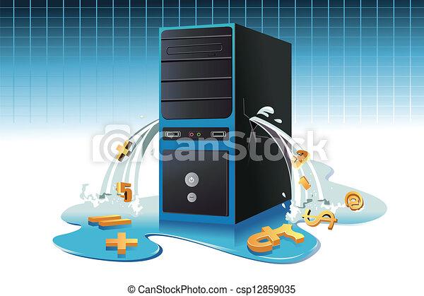 Data leaks concept - csp12859035