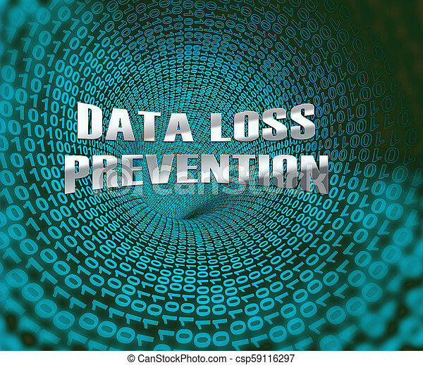 Data Loss Prevention Security Shield 3d Illustration - csp59116297