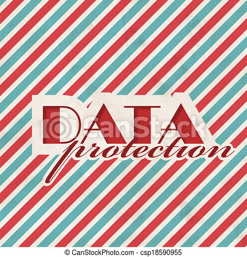 Data Protection Concept on Striped Background. - csp18590955