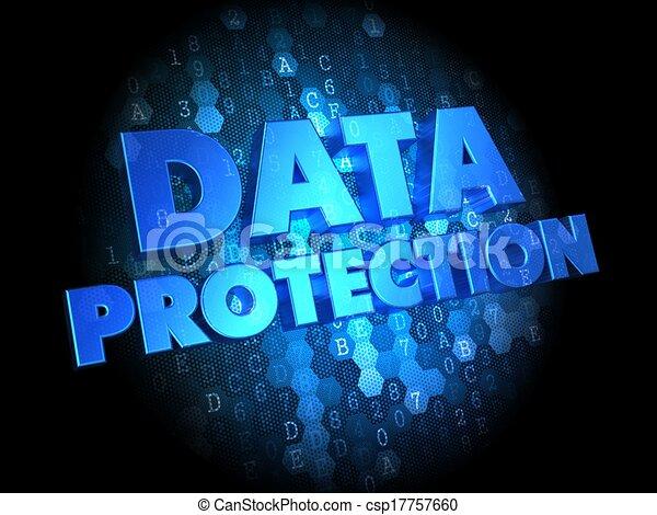 Data Protection on Dark Digital Background. - csp17757660