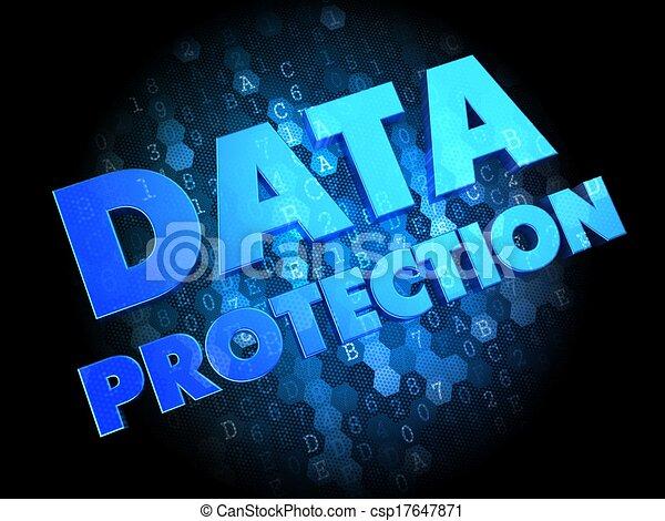 Data Protection on Dark Digital Background. - csp17647871