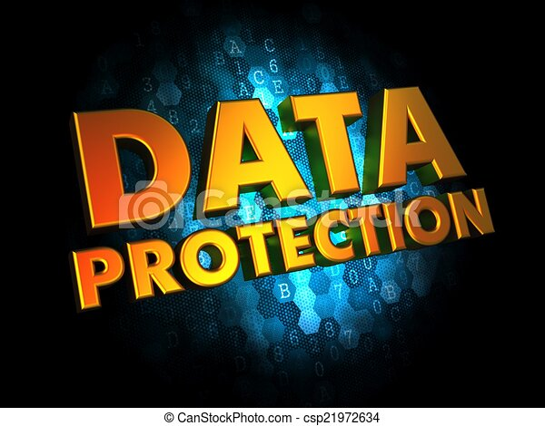 Data Protection - on Digital Background. - csp21972634
