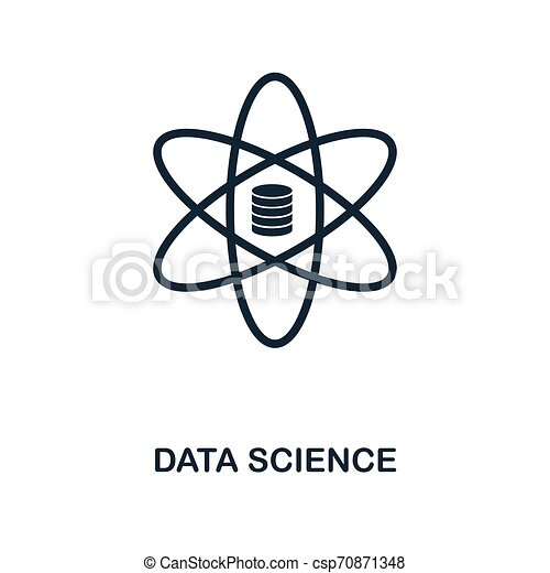Data Science icon. Monochrome style design from big data icon collection. UI. Pixel perfect simple pictogram data science icon. Web design, apps, software, print usage. - csp70871348