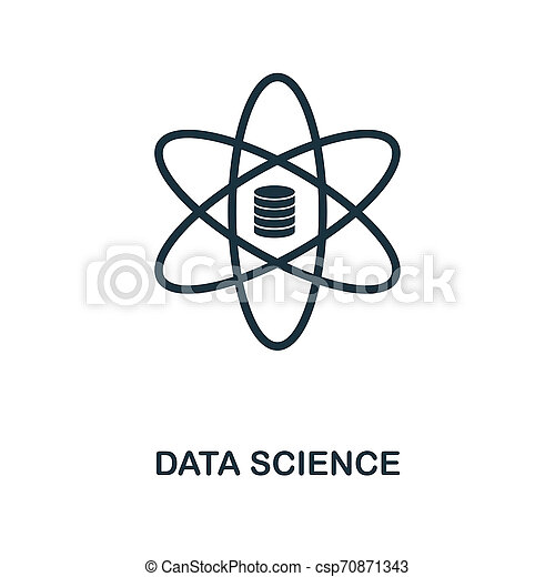 Data Science icon. Monochrome style design from big data icon collection. UI. Pixel perfect simple pictogram data science icon. Web design, apps, software, print usage. - csp70871343