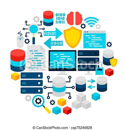 Data Science Icons Circle - csp75246828