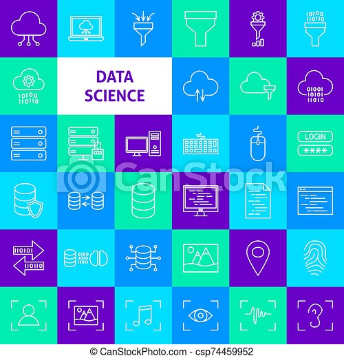 Data Science Line Icons - csp74459952