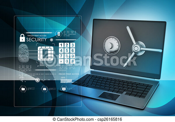Data security concept - csp26165816