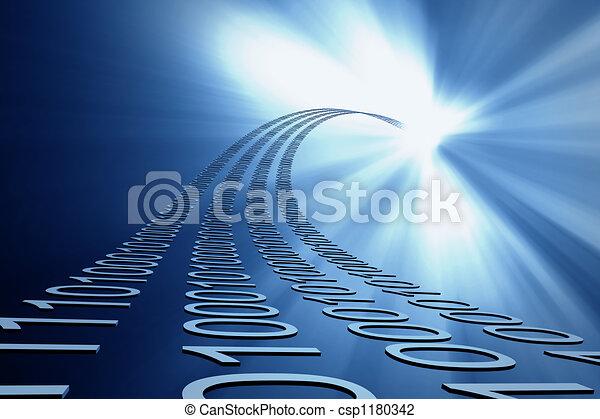 data strømmer, baggrund - csp1180342