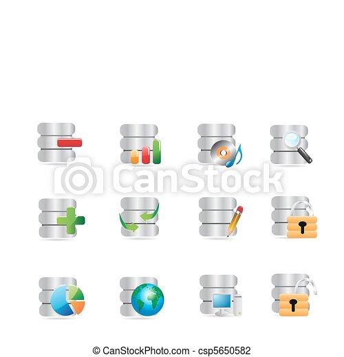 databank, iconen - csp5650582