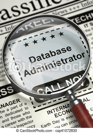 Database Administrator Wanted. 3D. - csp41072830