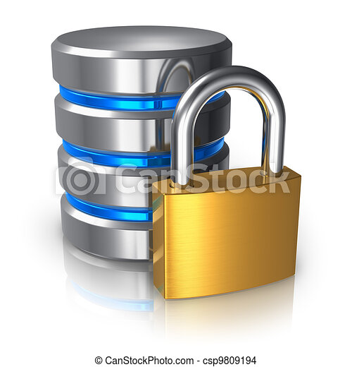 Database and computer data security concept - csp9809194