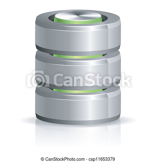 Database and Hard Disk Icon - csp11653379
