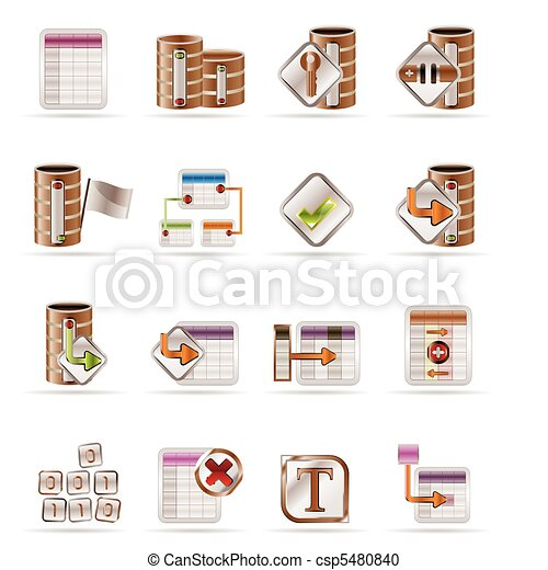 Database and table icons  - csp5480840