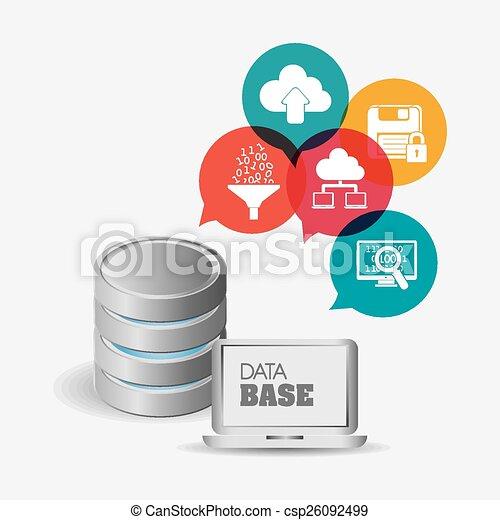 Database design, vector illustration. - csp26092499