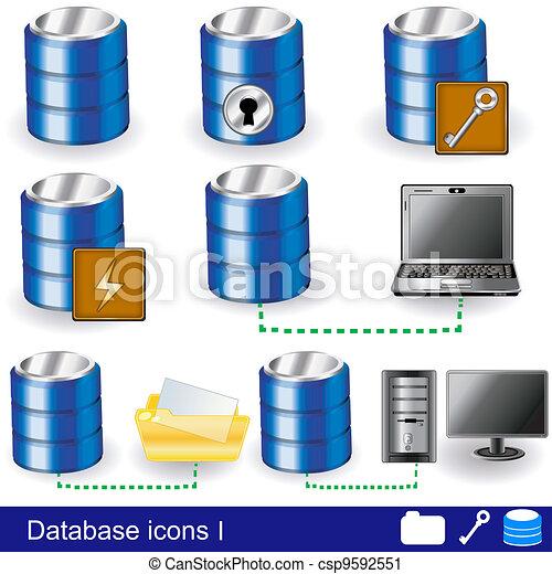 Database icons 1 - csp9592551