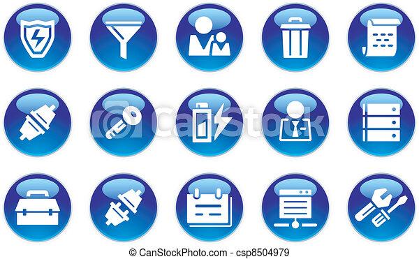 Database Icons Set - csp8504979