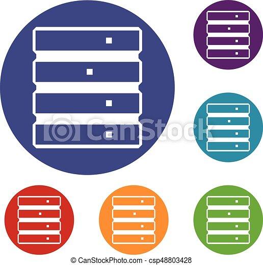 Database icons set - csp48803428