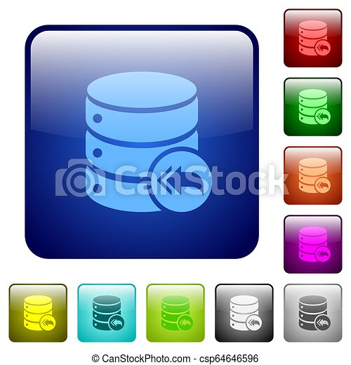 Database loopback color square buttons - csp64646596