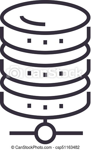 database network vector line icon sign illustration on vector rh canstockphoto ca network clip art free clipart network symbols