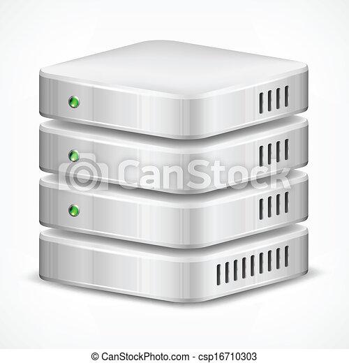 Database on white - csp16710303