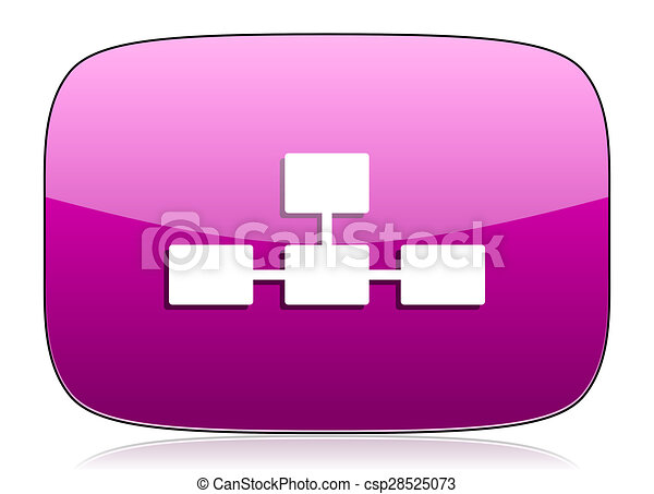 database violet icon - csp28525073