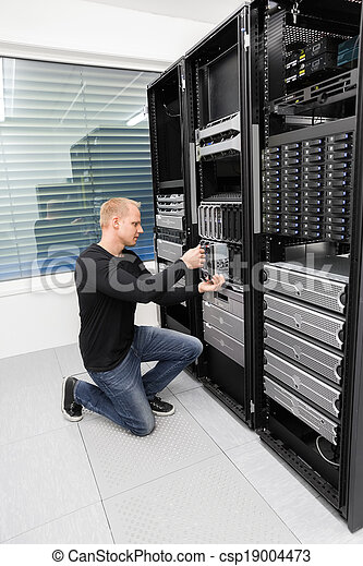 datacenter, יועץ, להב, זה, החלף, שרת - csp19004473