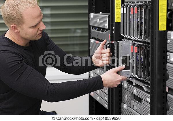 datacenter, יועץ, להב, זה, שרת, טעון - csp18539620
