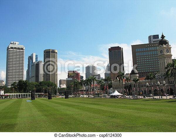 Dataran Merdeka (Independence square) in Kuala Lumpur, Malaysia - csp6124300