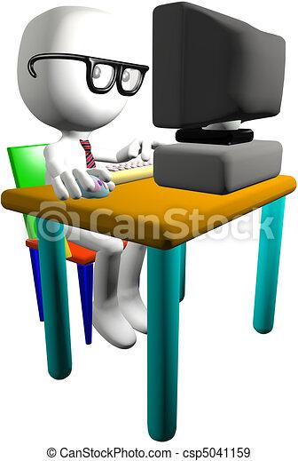 Wonderful Dataskærm, geni, computer pc., bruger, skrivebord, nerd, 3. Dreng PN-19