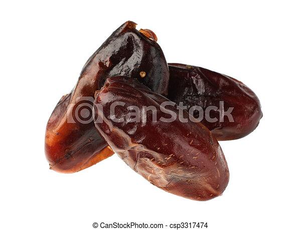 Date brown fruit - csp3317474