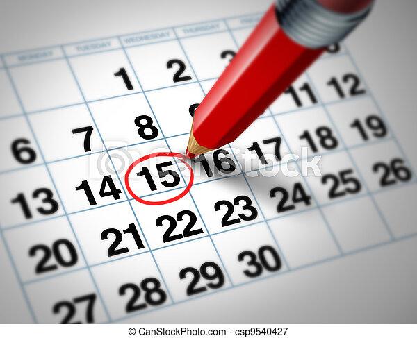 date, calendrier - csp9540427
