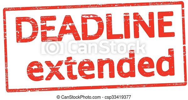 date limite, prolongé - csp33419377