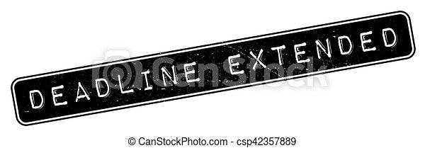 date limite, timbre, caoutchouc, prolongé - csp42357889