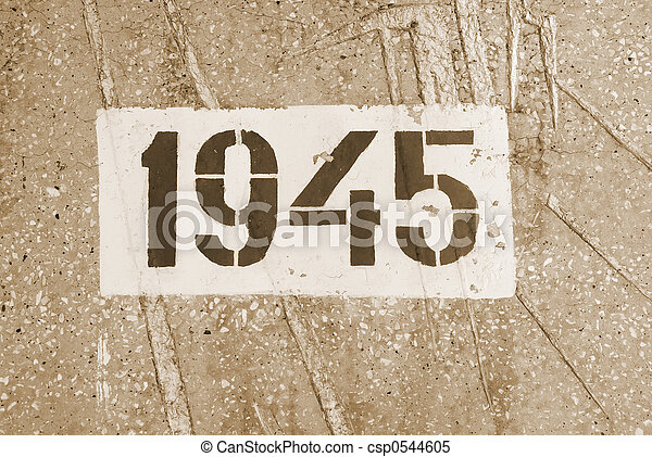 date of the end of World War II - csp0544605