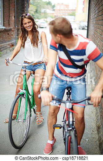Date on bicycles - csp18718821