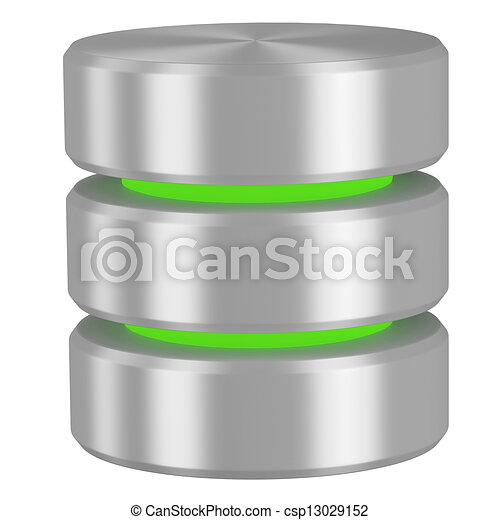 datenbank, elemente, grün, ikone - csp13029152