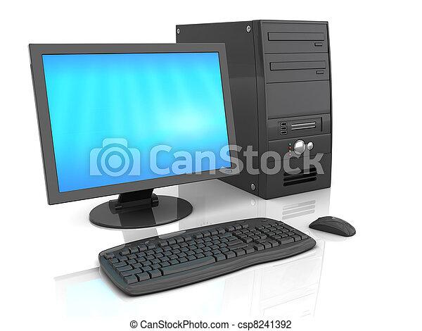 dator, skrivbord - csp8241392