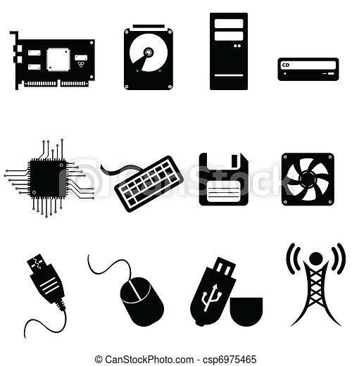 dator teknik, ikonen - csp6975465