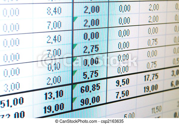 datos, empresa / negocio - csp2163635