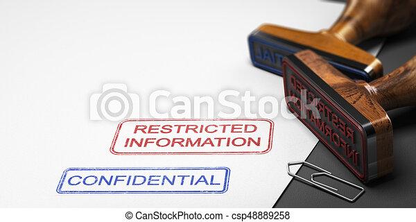 Información confidencial, datos clasificados - csp48889258