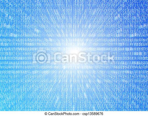 datos, plano de fondo - csp13589676