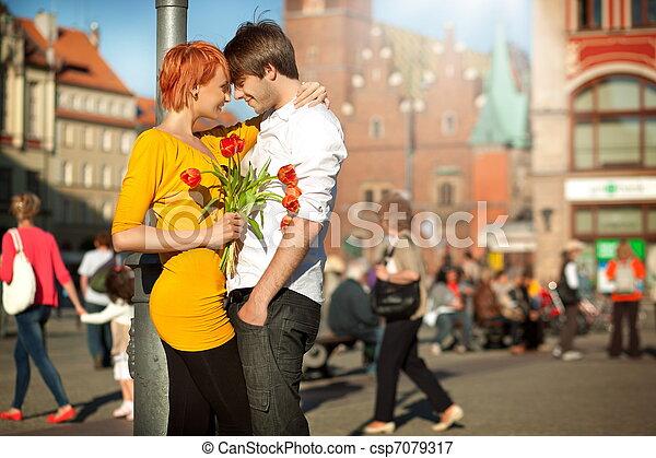 datum, paar, liefde, mooi - csp7079317