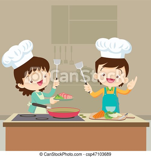 Cooking with Dad Clipart