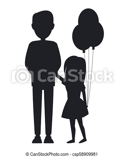 Daughter Holding Balls And Her Father Family Card Daughter Holding